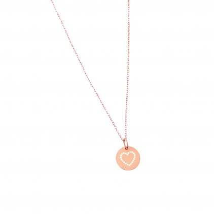 COLLIER MEDAILLE COEUR PM