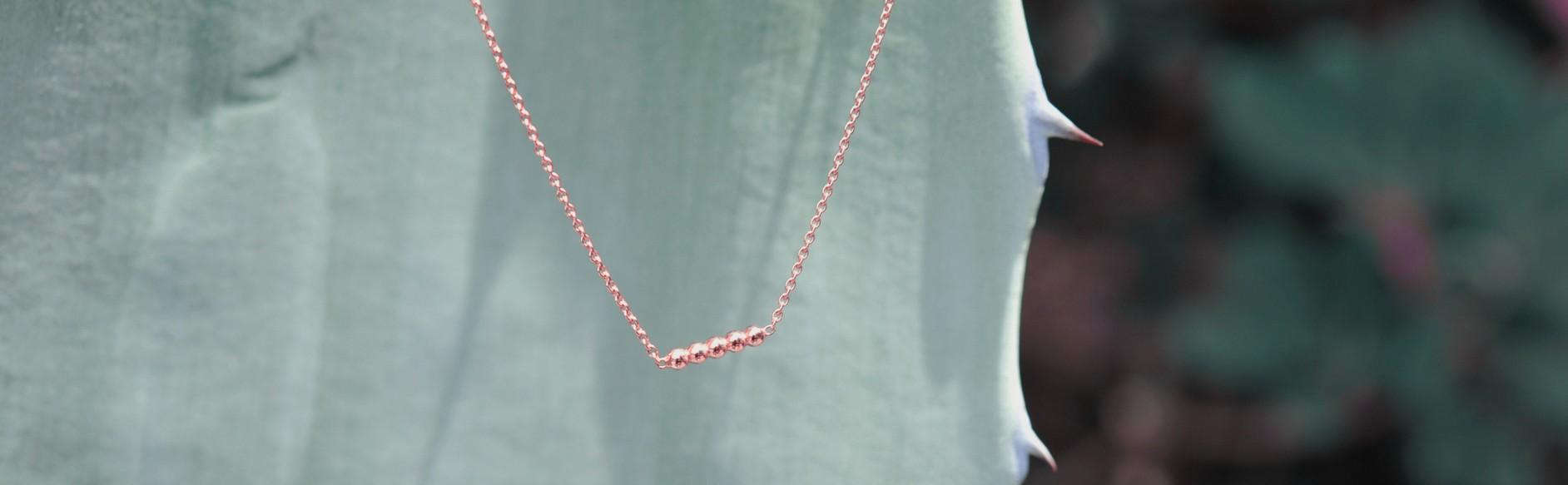 collier eldorado or rose 18 carats